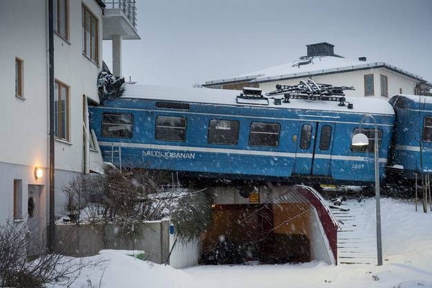 Ausser der Zugdiebin wurde bei dem Aufprall niemand verletzt.