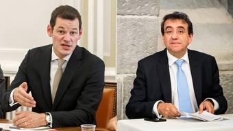 Pierre Maudet (links) und Pascal Broulis.