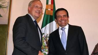 Wirtschaftsminister Johann Schneider-Ammann und sein mexikanischer Amtskollege Ildefonso Guajardo