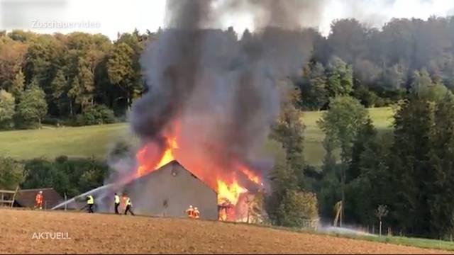 Bözberg: Brand verwandelt Bauernhaus in Ruine