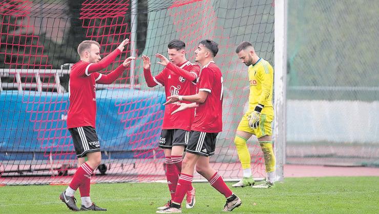 Der Aufsteiger SV Muttenz hatte in dieser Hinrunde viel zu bejubeln: Platz 7, Tore am Laufmeter - und das mit einer vergleichsweise sehr jungen Mannschaft. (zvg / EH Presse)