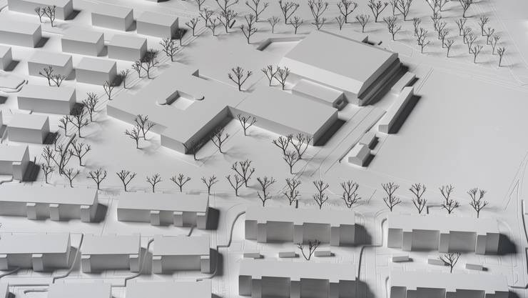 Das Modell der Schulanlage Kleinholz.
