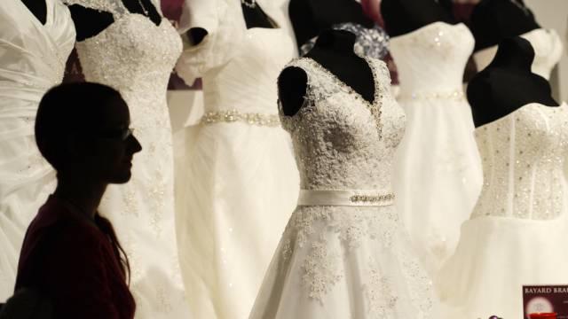 Hochzeitsmode an der Fest-und Hochzeitsmesse in Zürich (Archiv)