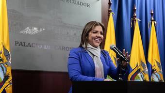 Ecuador: Die bisherige Bauministerin María Alejandra Vicuña ist nun Vizepräsidentin.