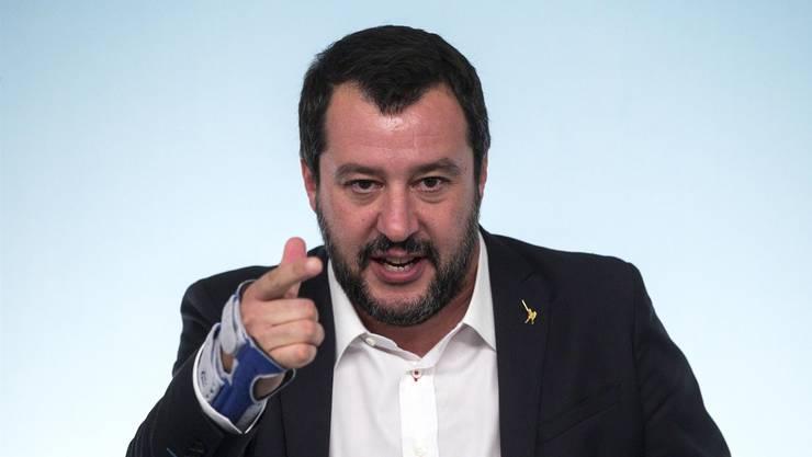 «Die Blut-und- Tränen-Sparpakete, die aus Brüssel nach Rom geschickt wurden, funktionieren mit uns nicht»: Matteo Salvini, italienischer Innenminister.