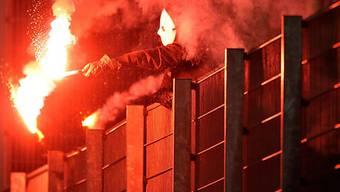 Offenbar schwerer Pyro-Unfall vor der Partie Lazio - FCZ (Archiv)