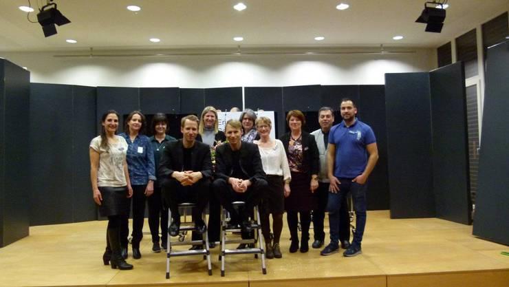OHNE ROLF mit dem Bibliotheksteam und dem Team  Kultur in Gränichen