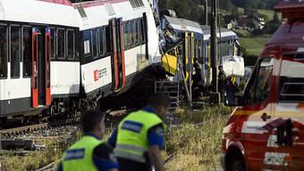 Beim Zugunfall in Granges-Marnand VD im Jahr 2013 wurden ein Lokführer getötet und 26 Passagiere verletzt.