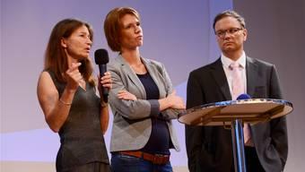 Die Referenten: Barbara Hochstrasser, Carolin Kriening sowie Bruno Widmer (v.l.).