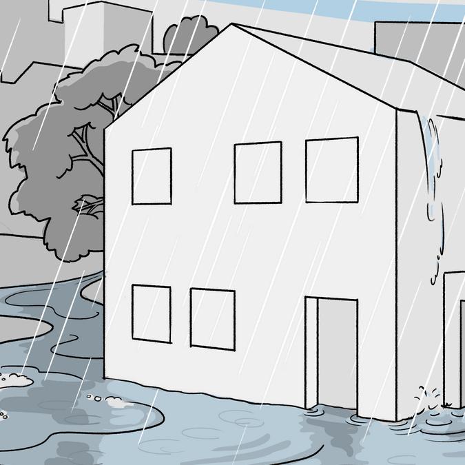 Wasserschäden gibts auch, wenn das Haus nicht direkt am Wasser steht