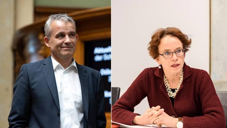 Beat Jans und Eva Herzog: Beide bringen die besten Voraussetzungen für eine Kandidatur mit.