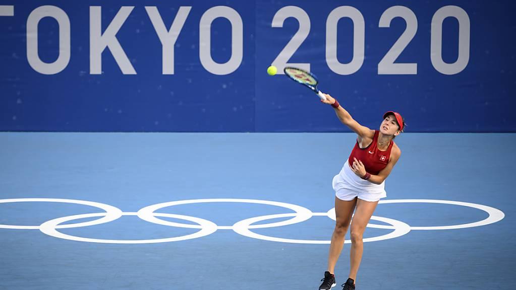 Gutes Olympia-Debüt: Belinda Bencic qualifiziert sich souverän für die 2. Runde.