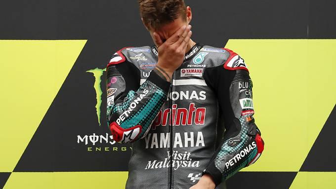 Emotionaler Sieg nach fünf Rennen ohne Podestplatz: Yamaha-Pilot Fabio Quartararo ist nach dem Grand Prix von Katalonien wieder WM-Leader