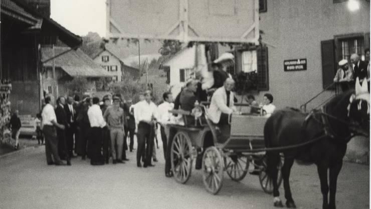 Vermutlich 1967 nach Heimkehr vom Kantonalen Schützenfest Aargau (3)