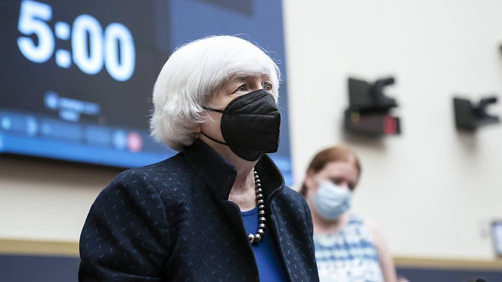 US-Finanzministerin Janet Yellen. Foto: Sarah Silbiger/Pool UPI/AP/dpa