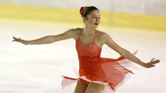 Eiskunstläuferin Anna la Porta vom Eislaufclub St. Jakob.