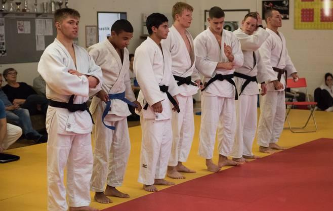 Die jungen Basler Judokas.