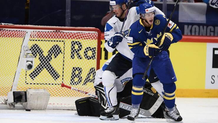 Loui Eriksson schoss in der elften Minute das erste Goal für Schweden