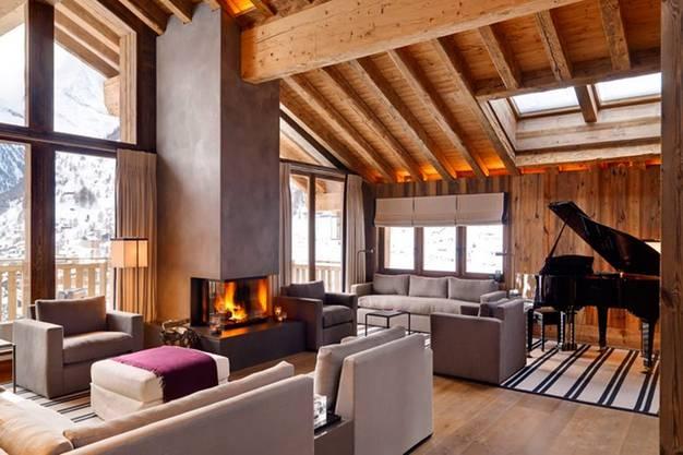 Von innen: Chalet «Les Anges» in Zermatt.