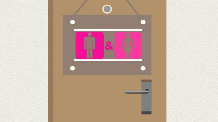 Die genderneutralen Toiletten mit Wickeltisch sind für alle Geschlechter zugänglich. (Symbolbild)