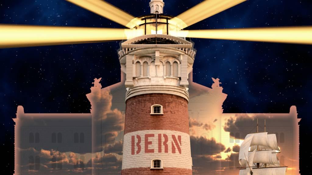 Das Lichtspektakel auf dem Bundesplatz läuft diesen Herbst unter dem Motto «Planet Hope».