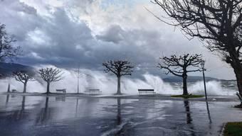 """So wütete Sturm """"Burglind"""" in der Schweiz"""
