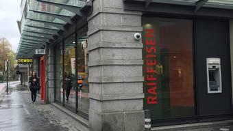 Die Raiffeisenbank an der Kasinostrasse in Aarau.