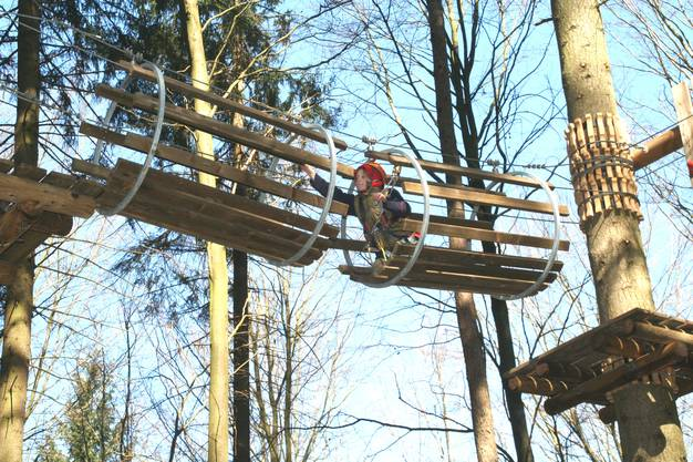 Waldseilgarten auf dem Rütihof in Gränichen