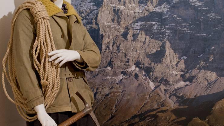 Mit einer solchen Ausrüstung erklomm der Dittinger Gottfried Jermann im Jahr 1947 die Eigernordwand. hanspeter steiner