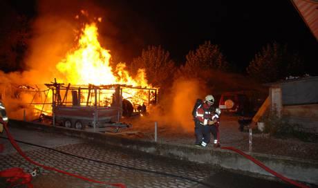 brandstiftung zum dritten mal brennt auf einem grundst ck in gerlafingen ein holzschuppen. Black Bedroom Furniture Sets. Home Design Ideas
