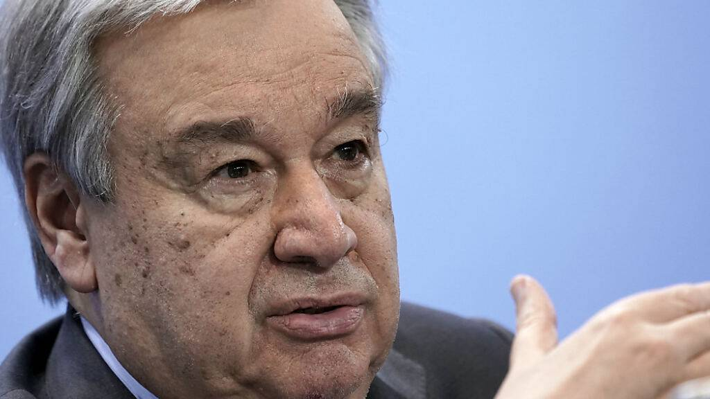 ARCHIV - Antonio Guterres, Generalsekretär der Vereinten Nationen. Foto: Michael Kappeler/dpa/Pool/dpa