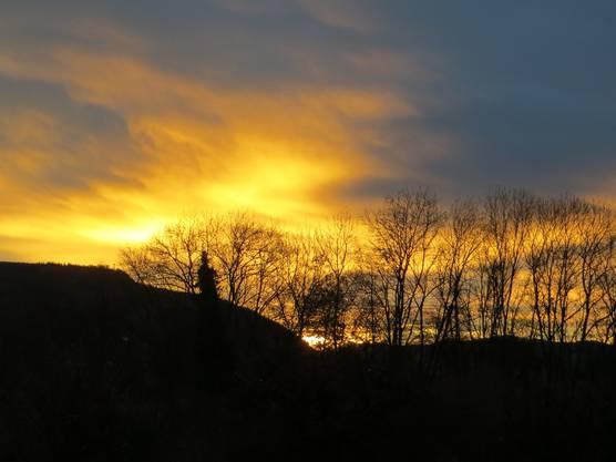 Einfach de Sonnenaufgang in Richtung Oberbaselbiet