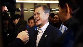 Der südkoreanische Präsident Moon Jae In sieht die Zeit noch nicht reif für ein Gipfeltreffen mit Nordkoreas Machthaber Kim Jong Un in Pjöngjang.