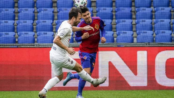 Basel gegen Servette ist in der ersten Halbzeit nur selten ein Kopf-an-Kopf-Rennen.