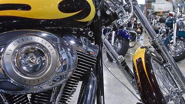 Wirtschaftskrise beutelt auch Harley-Davidson (Archiv)