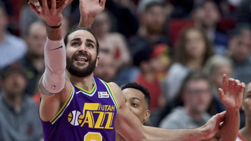Ricky Rubio hatte einen grossen Anteil am Sieg der Utah Jazz