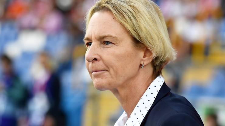 Nationaltrainerin Martina Voss-Tecklenburg trifft mit den Schweizerinnen im WM-Playoff-Hinspiel zunächst auswärts auf Belgien