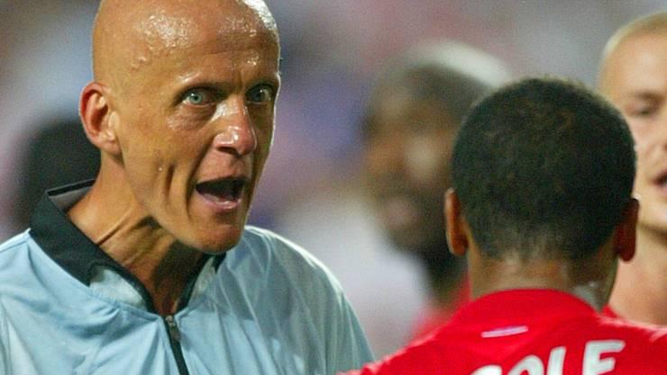 Wütend wollte man Pierluigi Collina auf dem Fussball-Platz nicht erleben