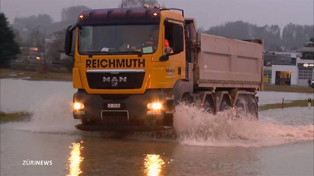 Hochwassergefahr in tieferen Lagen
