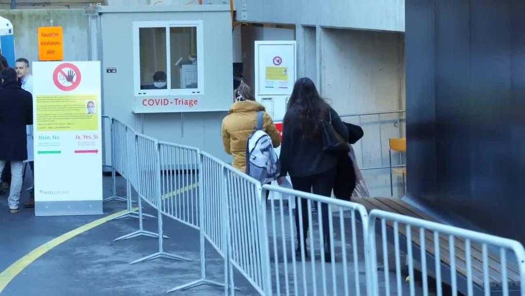 Berner Inselspital betreibt «Corona-Abklärungsstation» draussen