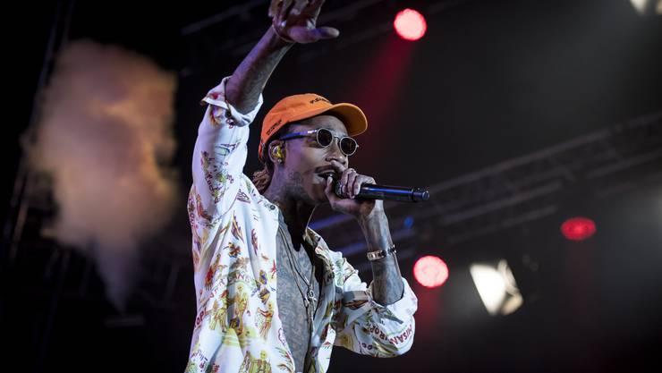 Cameron Jibril Thomaz alias Wiz Khalifa kam als Letzter am Samstagabend auf die Bühne.