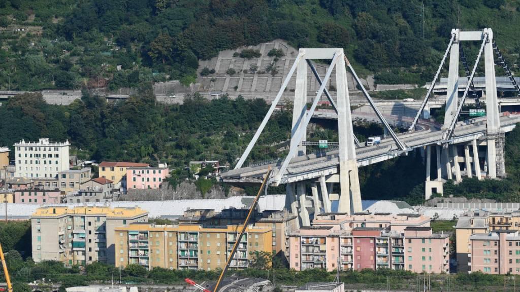 Brand an Baustelle der neuen Brücke von Genua ausgebrochen