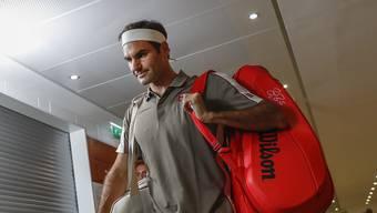 Regen durchkreuzt Roger Federers Pläne.