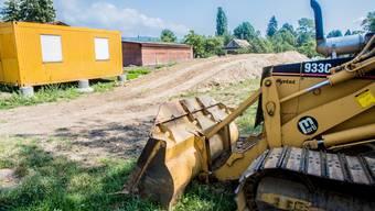 Die Baustelle ist bereit für den Aufbau der «Whitestone»-Anlage.