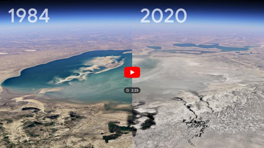 Satellitenbilder im Zeitraffer: So stark hat der Mensch die Natur verändert