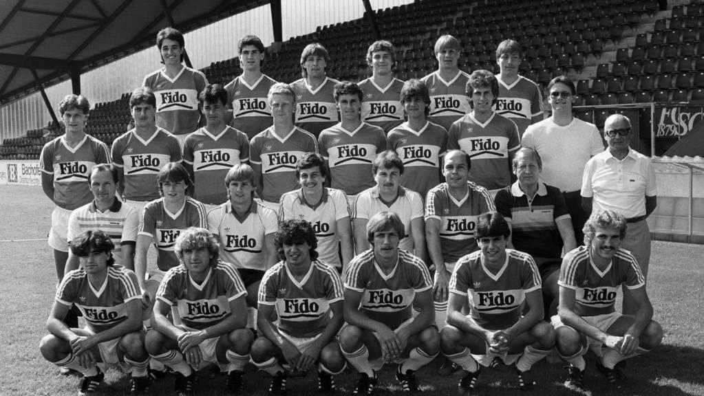 Die Mannschaft des FC St.Gallen von 1983.