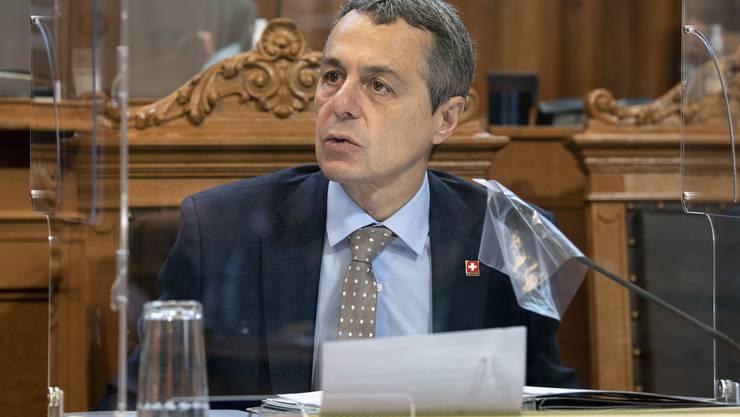 Bundesrat Ignazio Cassis hätte im Oktober seine schwedische Amtskollegin treffen sollen.