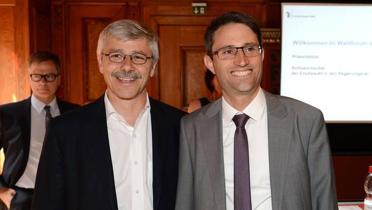 Lukas Engelberger (rechts) beerbt CVP-Kollege Carlo Conti.