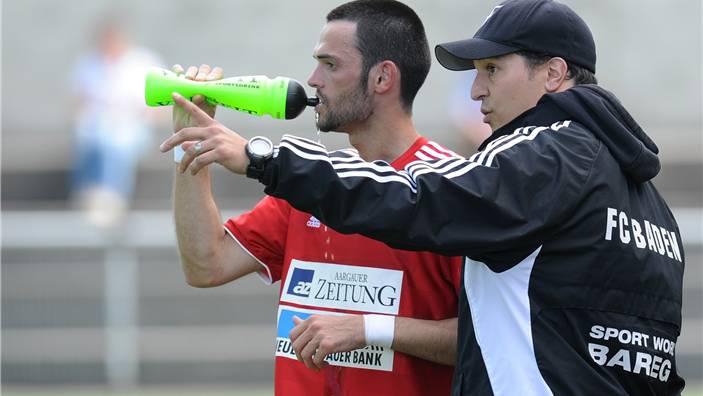 Kann Baden-Trainer Francesco Gabriele (rechts) seine Mannschaft (hier Raffaele Cardiello) noch zum Aufstieg führen?.