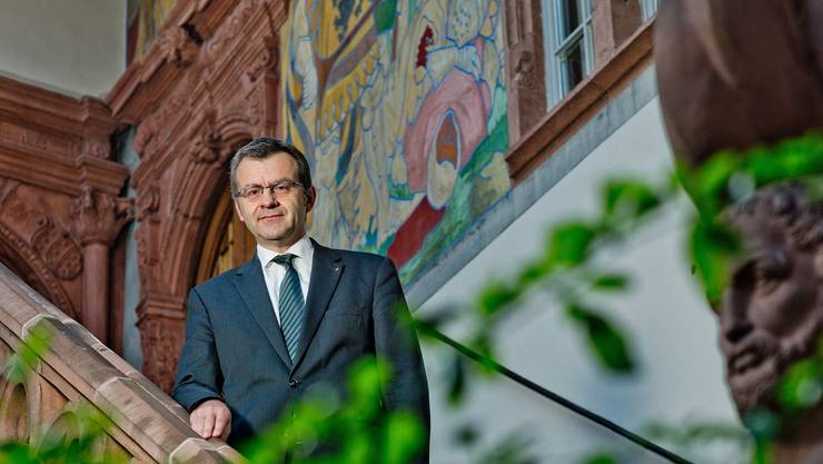 Im Innenhof des Rathauses: Franco Mazzi, Stadtammann von Rheinfelden, blickt zufrieden auf die letzten Jahre zurück. Emanuel Freudiger